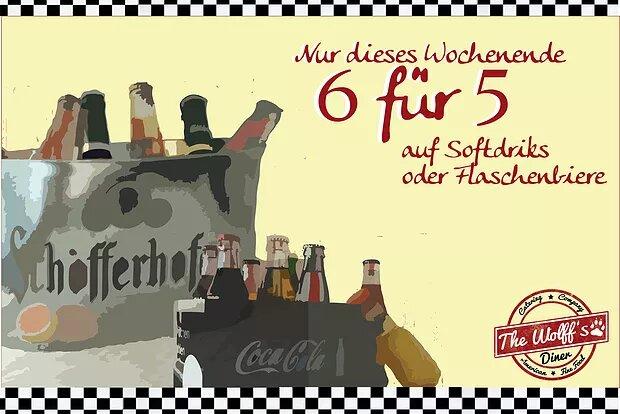 6 Getränke zum Preis von 5 – nur dieses Wochenende 14. – 15.01.17