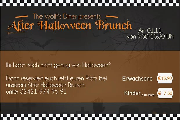 After Halloween Brunch am 01.11.17