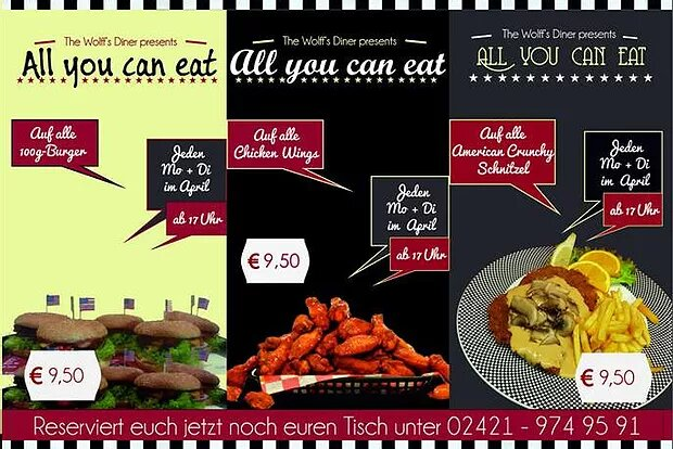 AYCE im April! All-you-can-eat Burger, Wings & Schnitzel