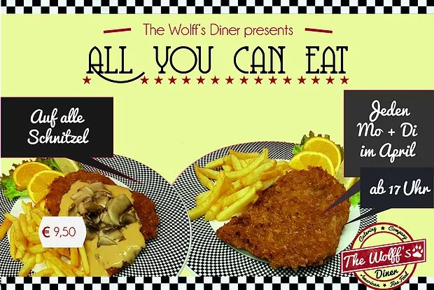 AYCE im April! all-you-can-eat-Schnitzeltagtag