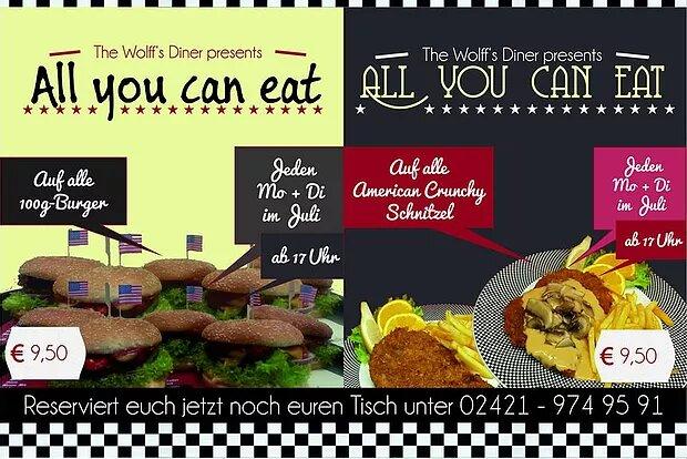 AYCE im Juli! All-you-can-eat Burger und Schnitzel