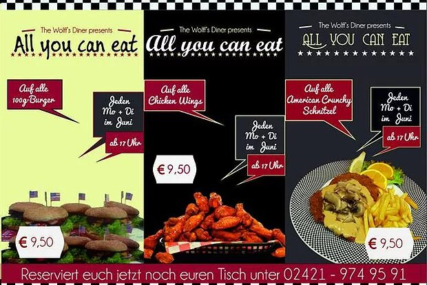 AYCE im Juni! All-you-can-eat Burger, Wings & Schnitzel