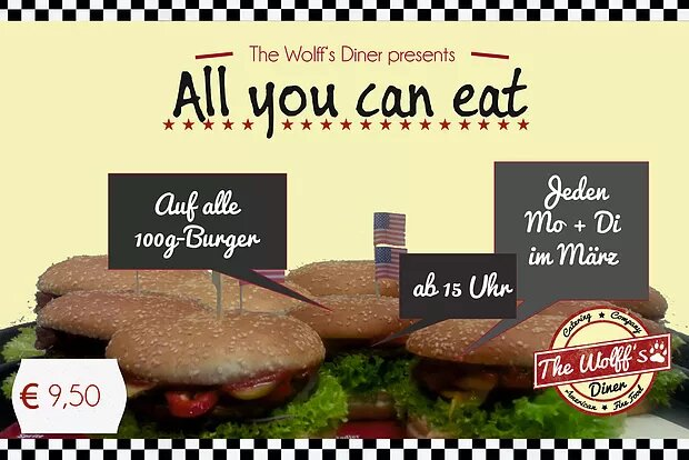 AYCE im März! all-you-can-eat-Burgertag