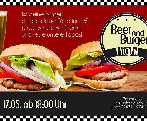 Beer & Burger Night 17.5.19 von 18 - 1 Uhr