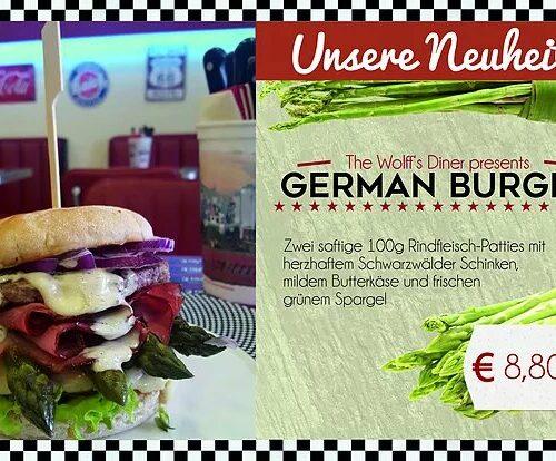 Special - German Burger mit frischem Spargel ab 10.04.17