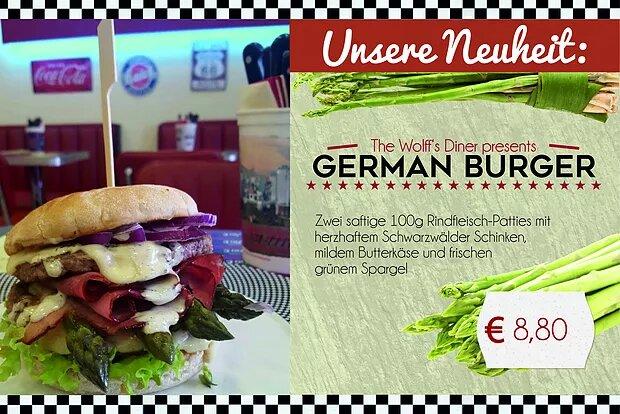 Special – German Burger mit frischem Spargel ab 10.04.17