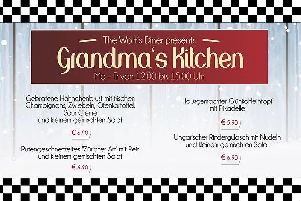 Grandma´s Kitchen – Unsere erweiterte Mittagskarte