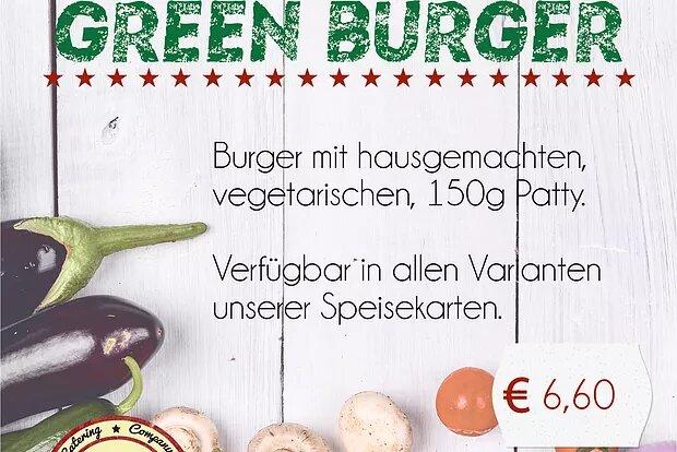 "Ab sofort: ""Green Burger"""
