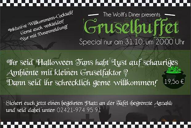 Halloween Grusel-Buffet am 31.10.17