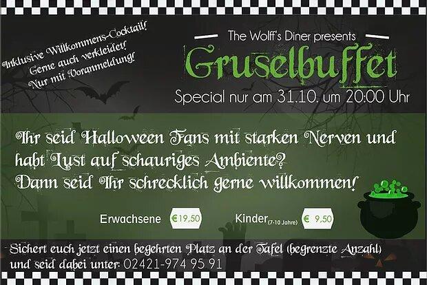 Special: Halloween Gruselbuffet am 31.10.19 – ausverkauft