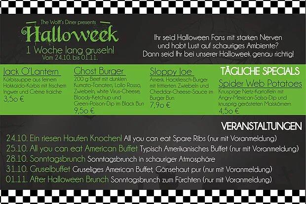Week Special: Events vom 24. – 31.10.18 nur mit Voranmeldung