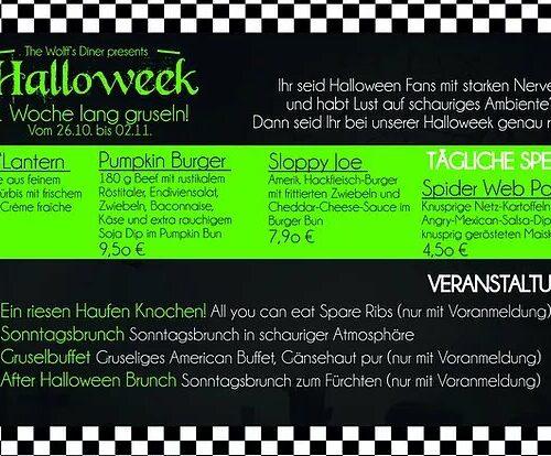 Special: Halloweek Events vom 26. - 01.11.19