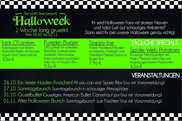 Special: Halloweek Events vom 26. – 01.11.19