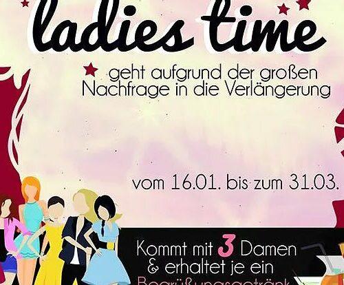 Ladies Time von 16.01. - 31.03.17