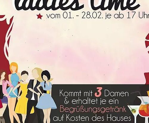 Daily Special: 13.08.20 Ladys Time ab 16 Uhr
