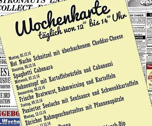 Wochenkarte Mittagstisch 05. - 16.12.16