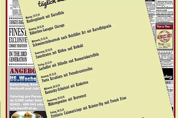 Wochenkarte Mittagstisch 19. – 30.12.16