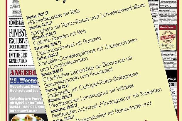 Wochenkarte Mittagstisch 30.01. – 10.02.17