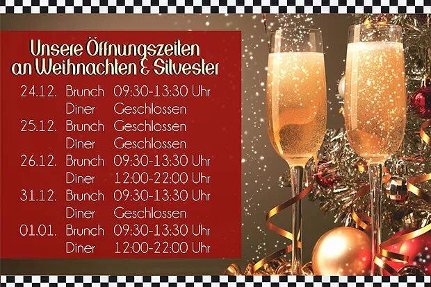 Öffnungszeiten an den Dezember-Feiertagen