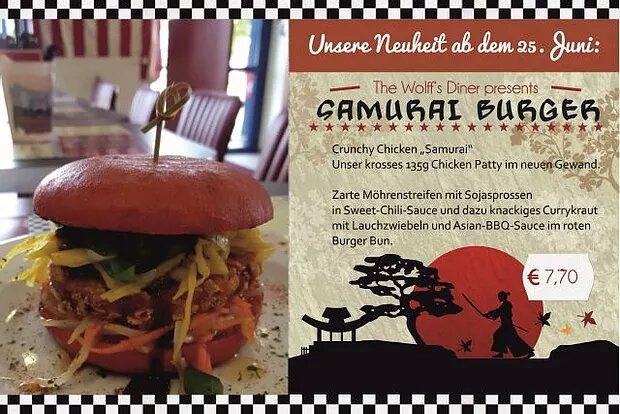 Special – Samurai Burger ab 26.06.17 bis 31.07.17