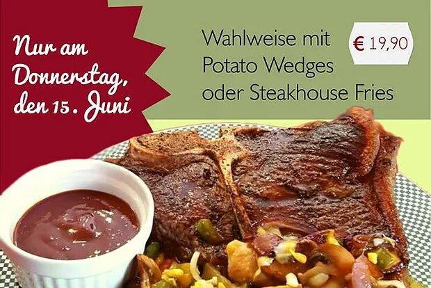 Chefkoch empfielt: Nur am 15.06.17 T-Bone Steak