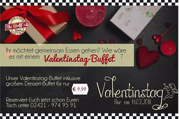 Valentine´s Day Buffet am 14.02.18