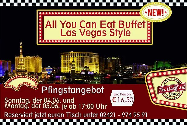 Special – Nur am 04. & 05.06.17 Classic All American Buffet
