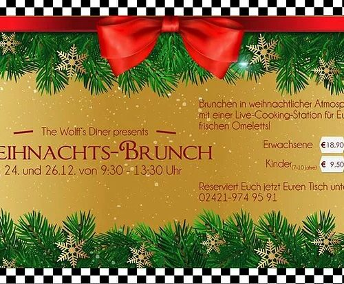 Weihnachts-Brunch am 24. + 25. und 26.12.18